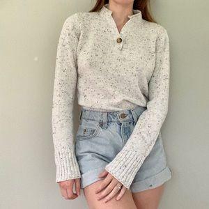 Crazy Horse Liz Claiborne speckled ivory sweater